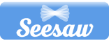 Blue Seesaw button. Click to log in to Seesaw.